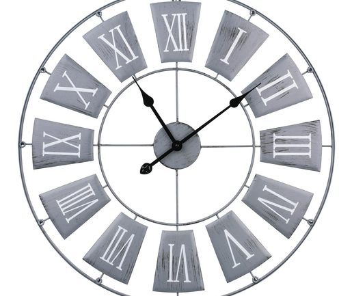 DIXTIME 3DS-0053 Horloge Murale Design Moderne et silencieuse Gris